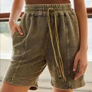 Free People At Ease Terry Short in Olive NWT